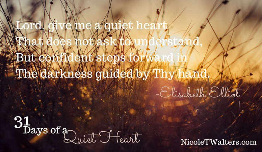 Prayer for a Quiet Heart